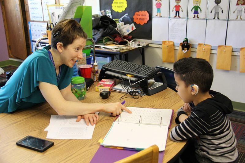 depaul teacher with student